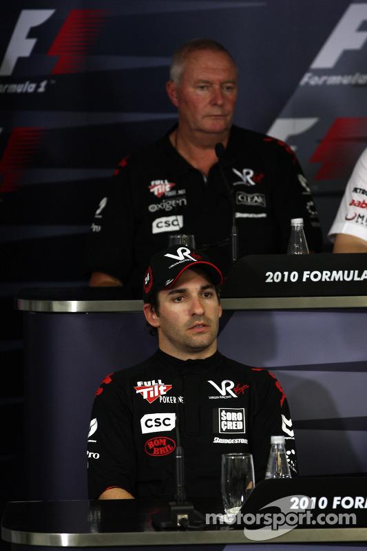 Timo Glock, Virgin Racing, John Booth, Virgin Racing Sporting Director