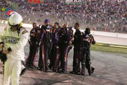 Joe Gibbs Racing Toyota crew celebrates the win