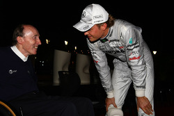 Sir Frank Williams, WilliamsF1 Team, Managing Director, Team Principal, Nico Rosberg, Mercedes GP