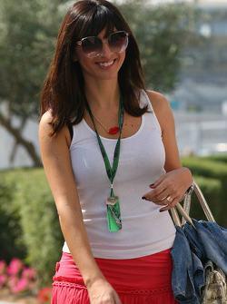 Francesca Caldarell, girlfriend of Vitantonio Liuzzi, Force India F1 Team