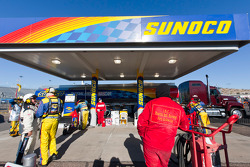 Fuelers replenish the Sunoco racing fuel