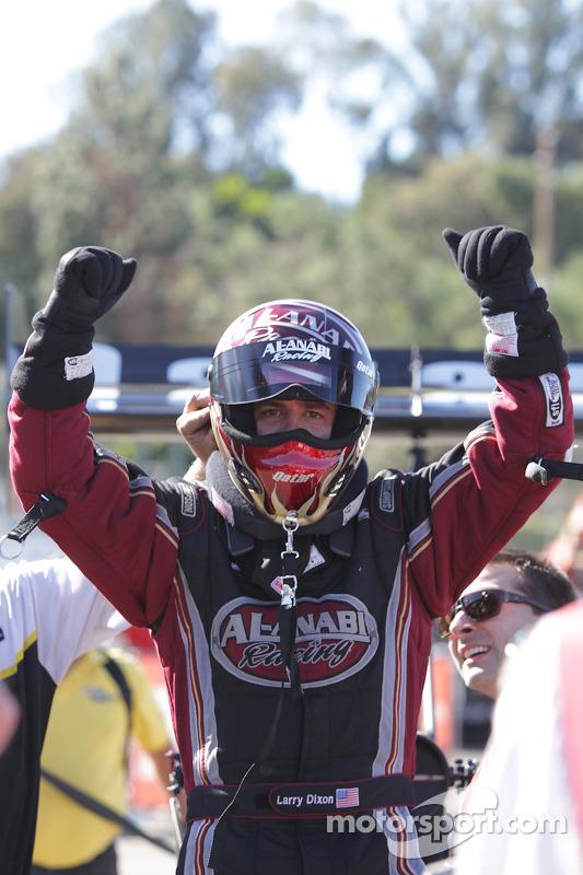 Larry Dixon, enkele momenten na het winnen van zijn vijfde top fuel championship