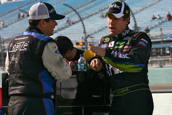 Kevin Conway, Robby Gordon Motorsports Toyota and Carl Edwards, Roush Fenway Racing Ford