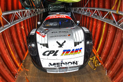 #34 Triple H Team Hegersport Maserati MC12 in a container