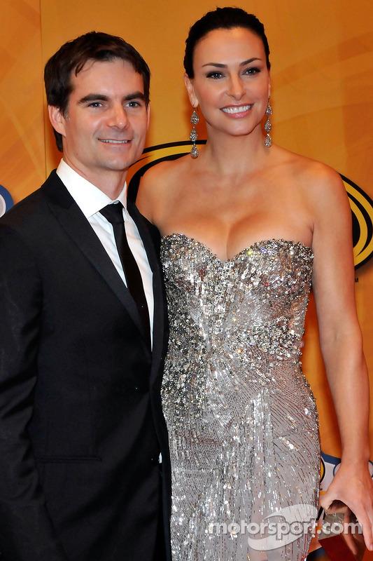 NASCAR rijder Jeff Gordon en vrouw Ingrid Vandebosch, NASCAR Sprint Cup Series Awards banket, Wynn Las Vegas Hotel