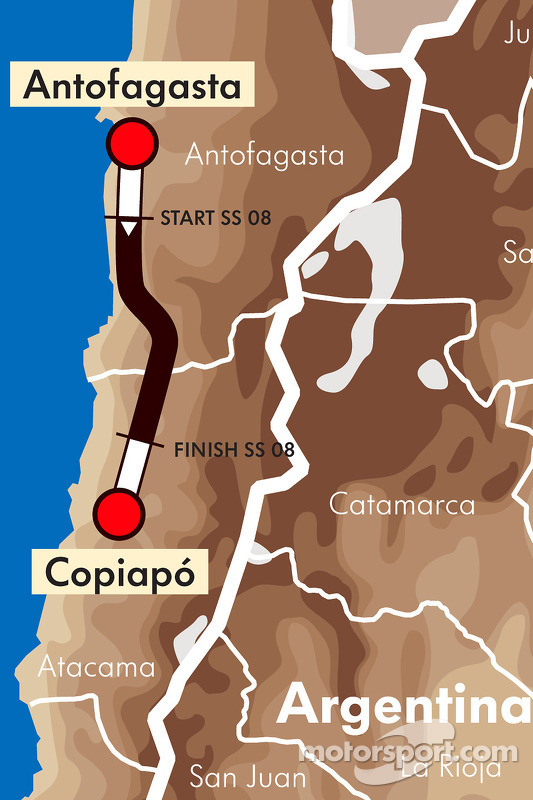Etappe 9: 2011-01-10, Antofagasta naar Copiapo
