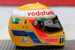 Helmet of Lewis Hamilton, McLaren Mercedes