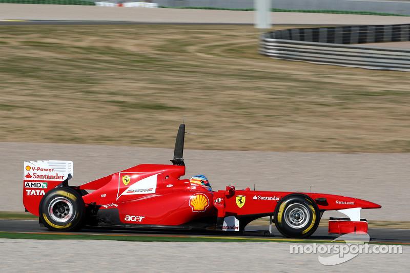 Fernando Alonso Scuderia Ferrari F150 At Valencia February Test