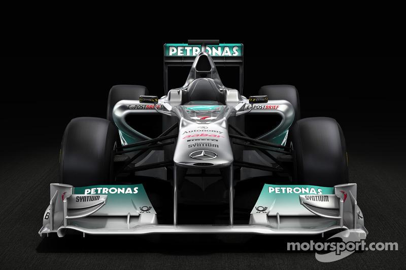 Mercedes GP F1 Team MGP W02 Pre Launch sneek preview