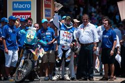 Podium : troisième pour la catégorie moto, Helder Rodrigues