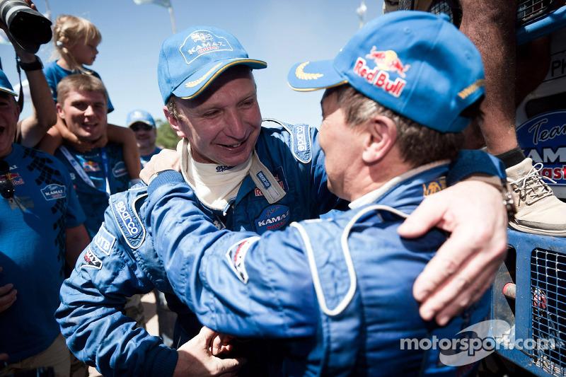 Truck category winner Vladimir Chagin celebrates