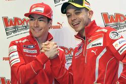 Nicky Hayden, Ducati y Valentino Rossi, Ducati