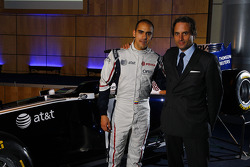 Pastor Maldonado, Williams FW33 Cosworth and Adam Parr, CEO, Williams F1