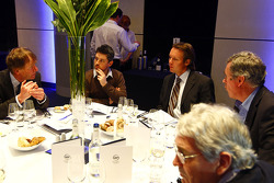 Sam Michael, Technical Director, Williams F1 with guests at the dinner table
