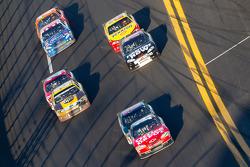 Tony Stewart, Stewart-Haas Racing Chevrolet leads Dale Earnhardt Jr., Hendrick Motorsports Chevrolet