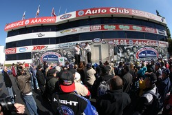 Pre race festivities taking place during the Kragen Oreilly Auto Parts NHRA Winternationals