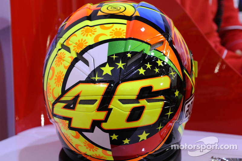 The helmet of Valentino Rossi
