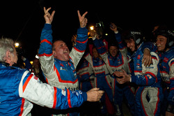 Team Oreca Matmut team members celebrate victory
