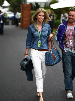 Isabell Reis, girlfriend of Timo Glock,