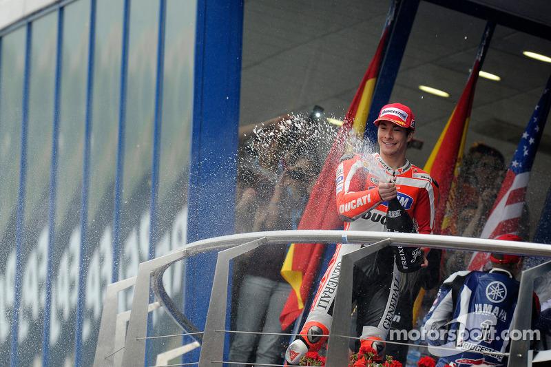 Podium : troisième place pour Nicky Hayden, Ducati Team