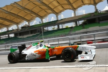 Paul di Resta finished 10th in his second F1 race