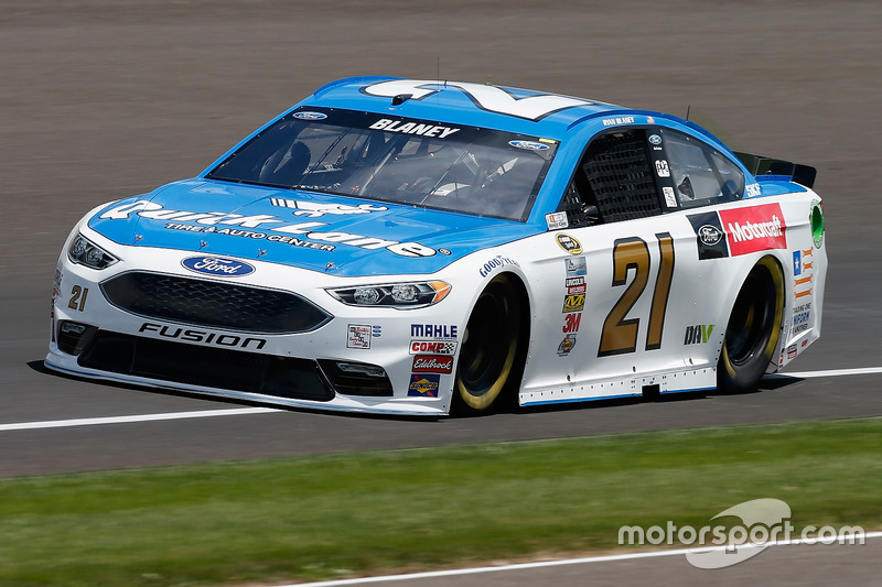 36. Ryan Blaney, Wood Brothers Racing, Ford (Crash)