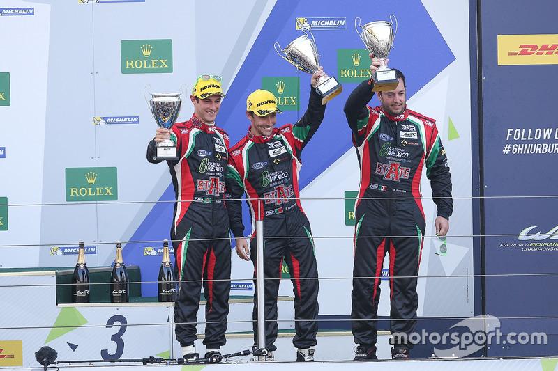 LM P2: segundo lugar Ricardo González, Filipe Albuquerque, Bruno Senna, RGR Sport by Morand