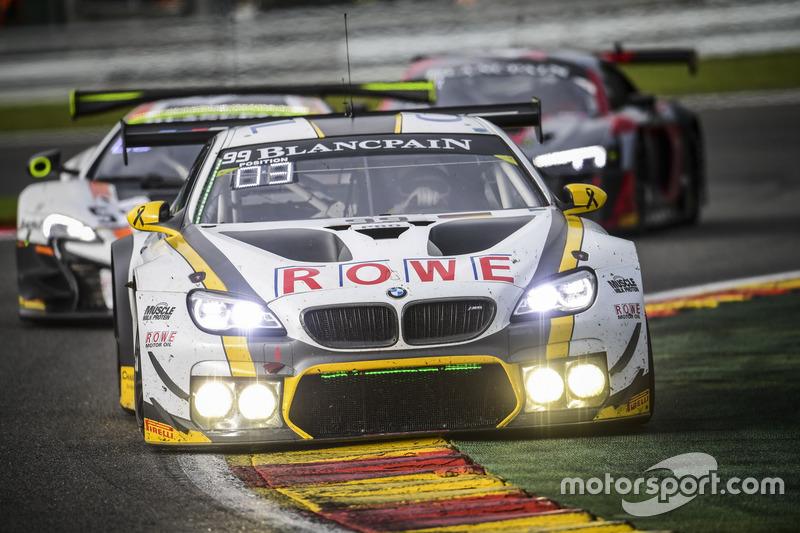 #99 Rowe Racing, BMW M6 GT3 reed richting de zege