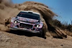 Kris Meeke, Craig Breen und Khalid Al-Qassimi, Citroën World Rally Team, Citroën C3 WRC Plus 2017