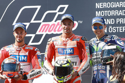 Podium: second place Andrea Dovizioso, Ducati Team, race winner Andrea Iannone, Ducati Team, third place Jorge Lorenzo, Yamaha Factory Racing