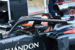 McLaren prova il dispositivo Halo