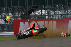 Alvaro Bautista, Aprilia Racing Team Gresini crash