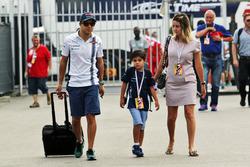Феліпе Масса, Williams з дружиною Раффаелою та сином Філіпіньйо
