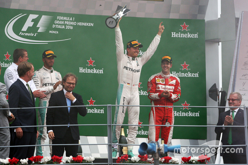 Nico Rosberg celebra su victoria en Italia