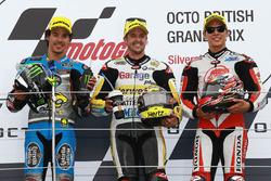 Podio: il vincitore Thomas Lüthi, Interwetten, secondo Franco Morbidelli, Marc VDS, terzo Takaaki Nakagami, Honda Team Asia