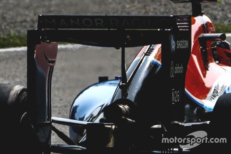 L'aileron arrière de la Manor Racing MRT05