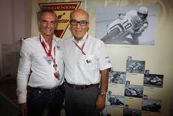 Carmelo Ezpeleta, CEO Dorna Sports, Franco Uncini, FIM Grand Prix Safety Officer