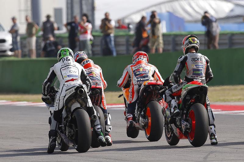 Eugene Laverty, Aspar Racing Team, Dani Pedrosa, Repsol Honda Team, Marc Marquez, Repsol Honda Team, Alvaro Bautista, Aprilia Gresini Racing Team