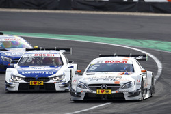 Robert Wickens, Mercedes-AMG Team HWA, Mercedes-AMG C63 DTM and Maxime Martin, BMW Team RBM, BMW M4 DTM
