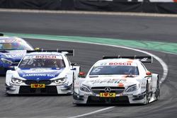 Robert Wickens, Mercedes-AMG Team HWA, Mercedes-AMG C63 DTM; Maxime Martin, BMW Team RBM, BMW M4 DTM
