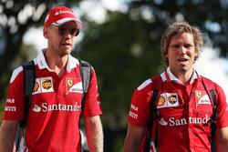 (L to R): Sebastian Vettel, Ferrari with Antti Kontsas, Personal Trainer