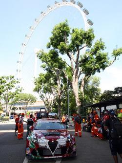 De wagen van Michela Cerruti, Mulsanne Racing, Alfa Romeo Giulietta TCR