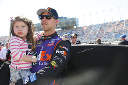 Denny Hamlin, Joe Gibbs Racing Toyota with his daughter