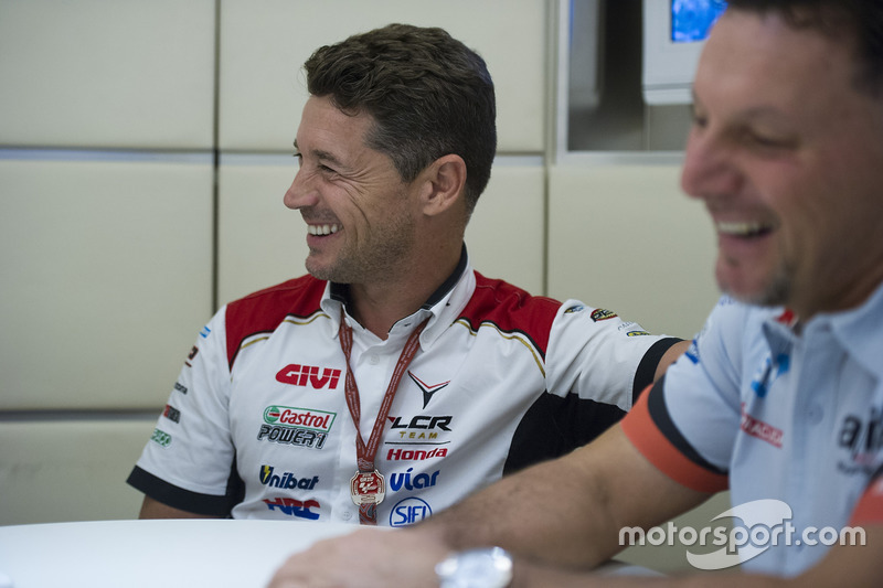 Lucio Cecchinello, Team Principal Team LCR Honda, Fausto Gresini, Team Principal Aprilia Gresini Racing Team