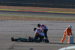 Alex Lowes, Tech 3 Yamaha, crash
