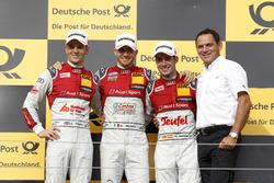 Подиум: Эдоардо Мортара, Audi Sport Team Abt Sportsline, Audi RS 5 DTM; Джейми Грин, Audi Sport Team Rosberg, Audi RS 5 DTM; Мигель Молина, Audi Sport Team Abt Sportsline, Audi RS 5 DTM; руководитель Abt-Audi Ханс-Юрген Абт