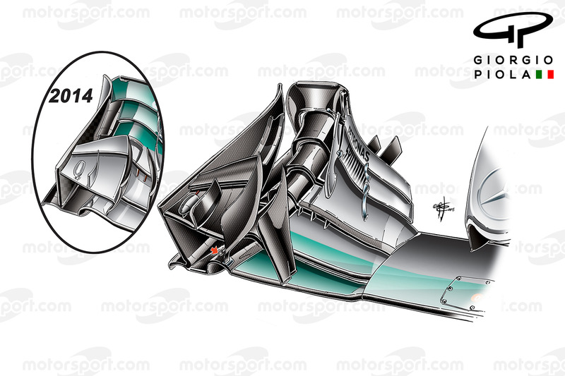 Mercedes W06 voorvleugel, Chinese GP