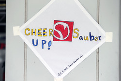 Sauber F1 Team - Cheer Up! message of support from fans