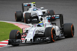 Felipe Massa, Williams FW38 leads team mate Valtteri Bottas, Williams FW38