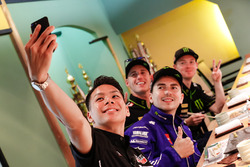 Takaaki Nakagami, Honda Team Asia; Jorge Lorenzo, Yamaha Factory Racing; Pol Espargaro, Monster Yamaha Tech 3; Bradley Smith, Monster Yamaha Tech 3